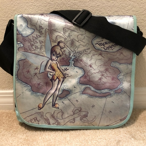 Disney Handbags - Tinkerbell Neverland map messenger bag